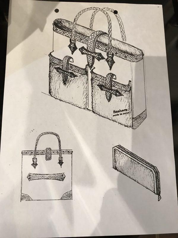 鞄オーダーデザイン画