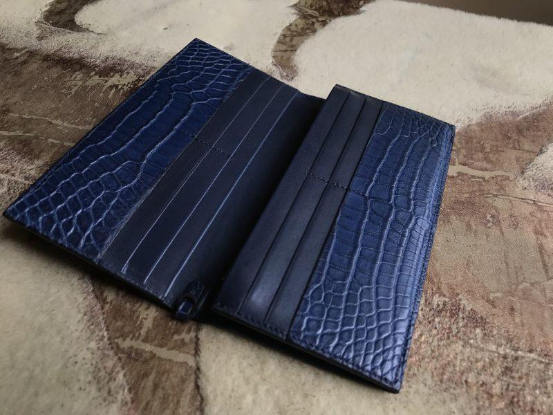 フルオーダーメイドのクロコダイル長財布