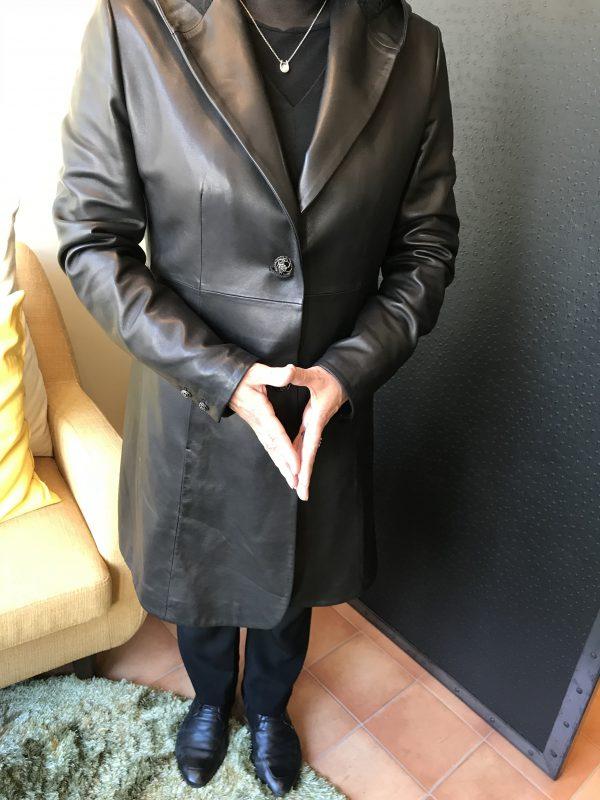 革レディースパーカーコート