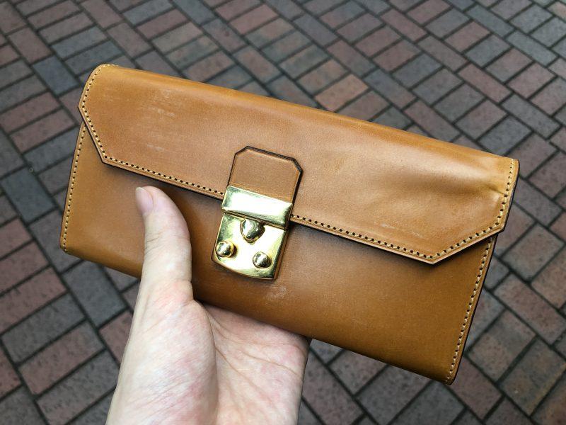 横浜で本場イギリス産ブライドルレザーの長財布をオーダーメイド