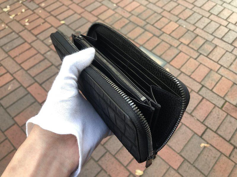マットクロコのラウンドファスナー長財布
