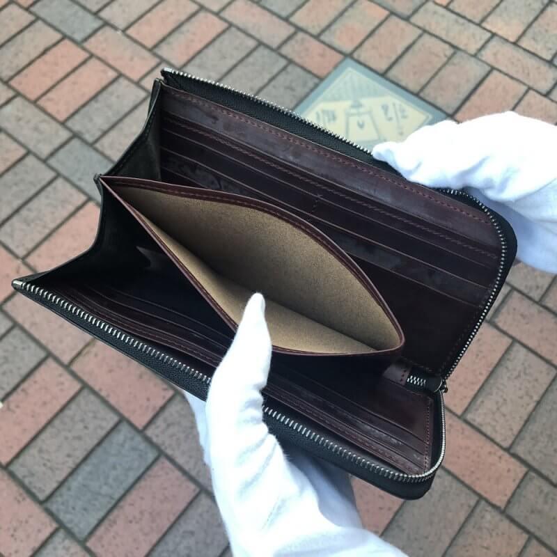 グイディ(GUIDI)社製フィオーレカーフL字ファスナー財布