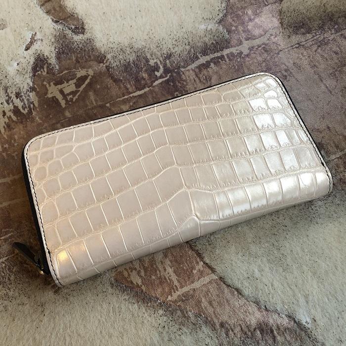 ゴールドクロコダイル長財布