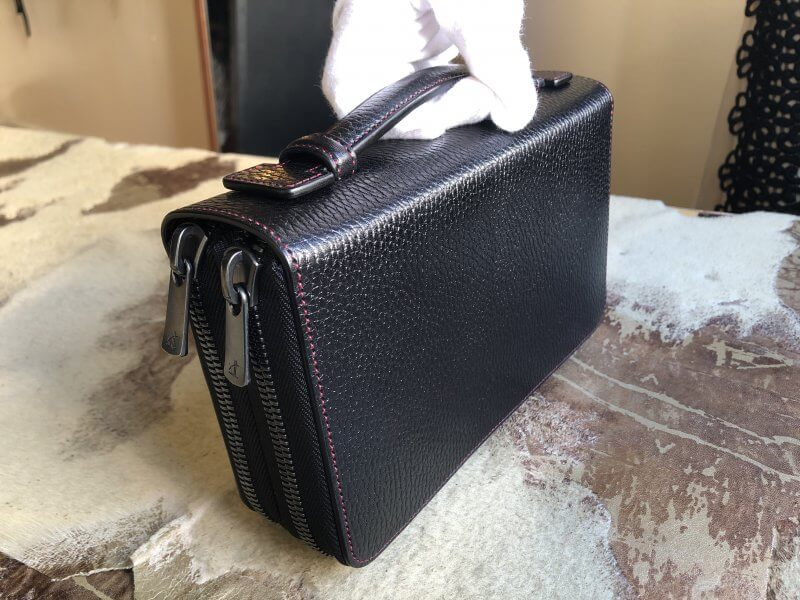 ダブルファスナーのレザー長財布のフルオーダー