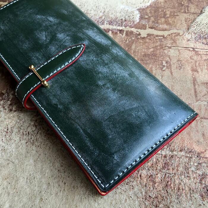 本場イギリス産ブライドルレザーの長財布をオーダーメイド