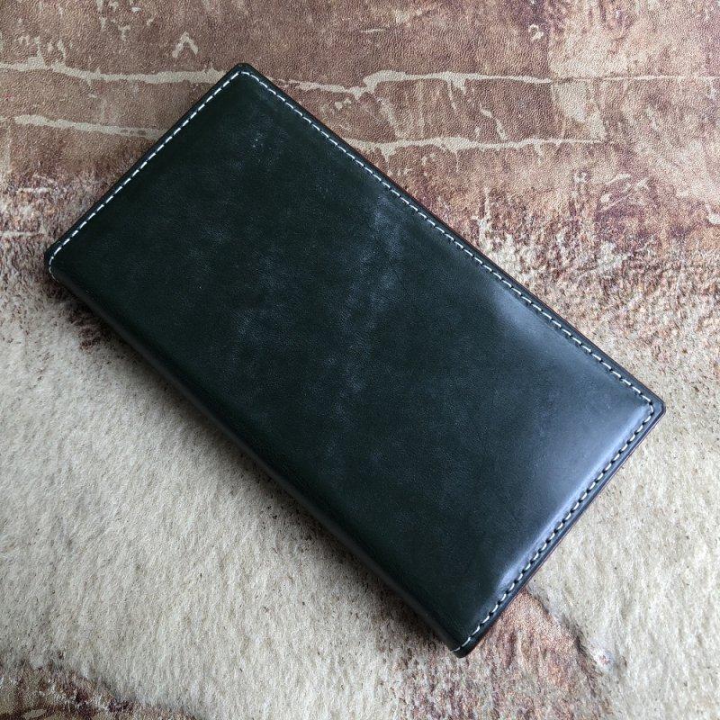 ブライドルレザーで革の手帳型スマホケース/スマホカバーをオーダーメイド