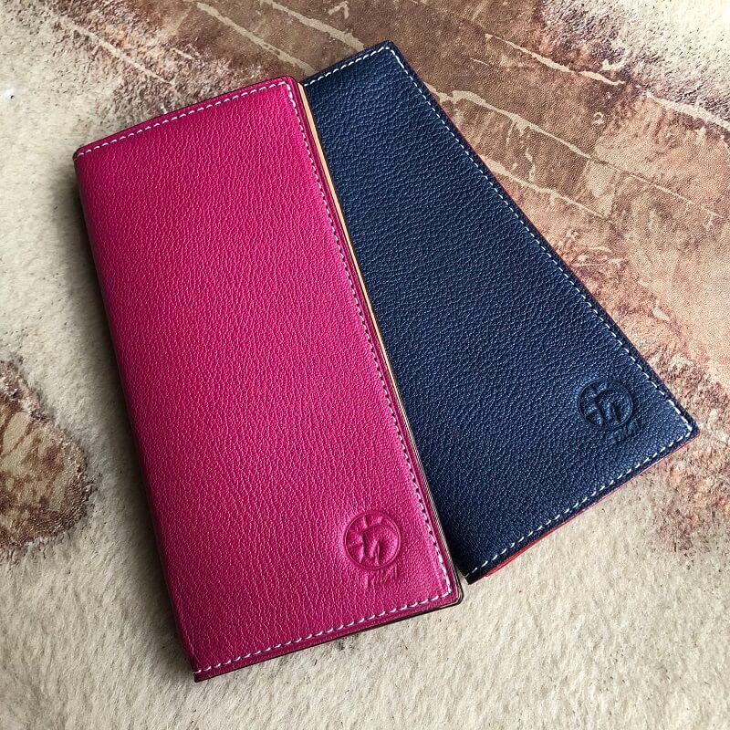 高級メゾンに愛されるフランス産羊革で二つ折り長財布をセミオーダーメイド
