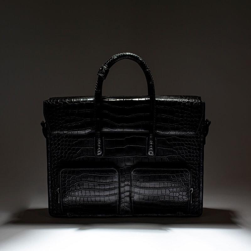 クロコダイルポロサスビジネス鞄