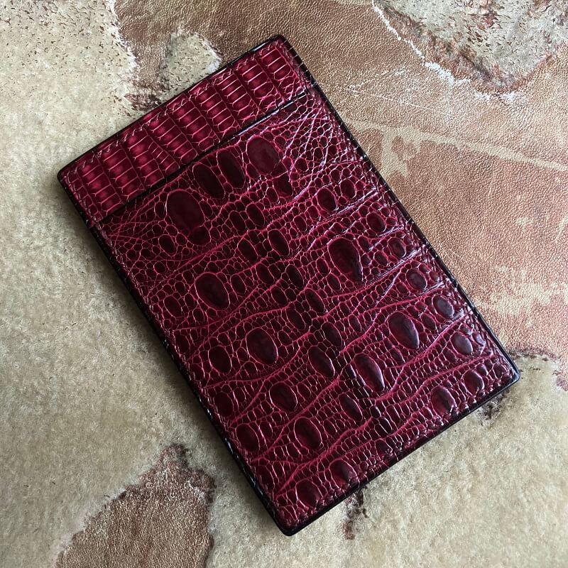 トカゲ革カードケース